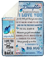 """To My Daughter - Mom  Large Sherpa Fleece Blanket - 60"""" x 80"""" thumbnail"""