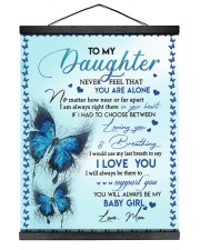 To My Daughter - Mom 16x20 Black Hanging Canvas thumbnail