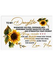 To My Daughter - Mom 17x11 Poster thumbnail