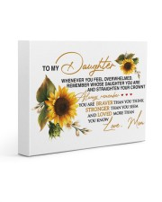 To My Daughter - Mom 14x11 Gallery Wrapped Canvas Prints thumbnail