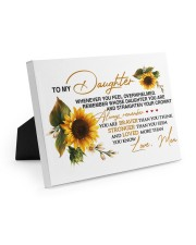 To My Daughter - Mom 10x8 Easel-Back Gallery Wrapped Canvas thumbnail