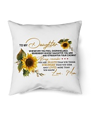 "To My Daughter - Mom Indoor Pillow - 16"" x 16"" thumbnail"