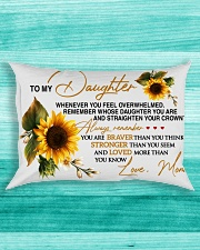 To My Daughter - Mom Rectangular Pillowcase aos-pillow-rectangle-front-lifestyle-5