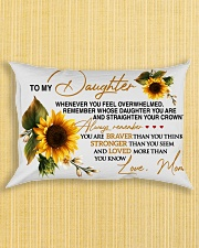 To My Daughter - Mom Rectangular Pillowcase aos-pillow-rectangle-front-lifestyle-6