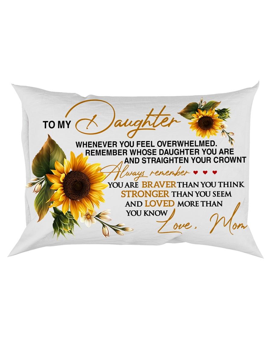 To My Daughter - Mom Rectangular Pillowcase