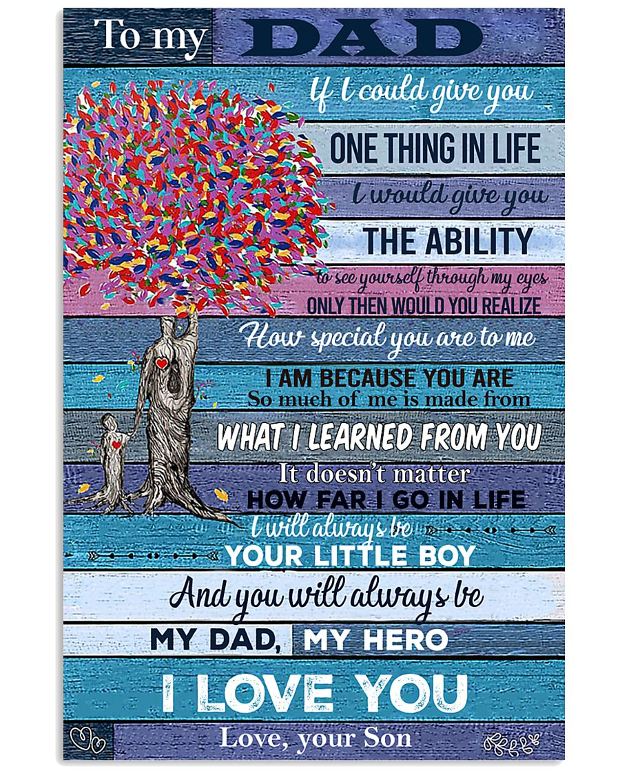 To My Dad - Son 11x17 Poster