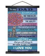 To My Dad - Son 12x16 Black Hanging Canvas thumbnail