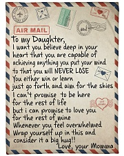 """To My Daughter - Momma Large Fleece Blanket - 60"""" x 80"""" front"""