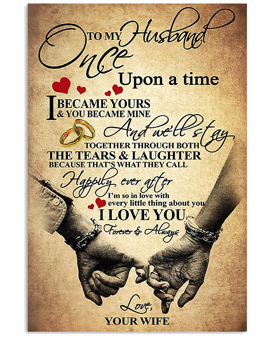 To My Husband - WIfe 11x17 Poster