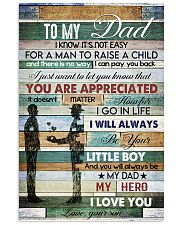 To My Dad- son 11x17 Poster front