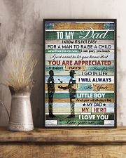 To My Dad- son 11x17 Poster lifestyle-poster-3