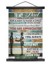 To My Dad- son 12x16 Black Hanging Canvas thumbnail