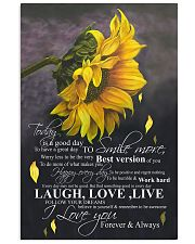 To day is a good day 16x24 Poster front