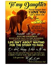 To My Daughter - Dad 11x17 Poster front