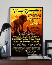 To My Daughter - Dad 11x17 Poster lifestyle-poster-2