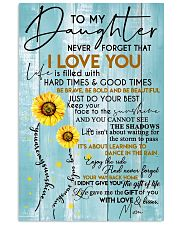 To My Daughter - Mom 11x17 Poster front