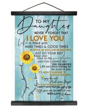 To My Daughter - Mom 12x16 Black Hanging Canvas thumbnail