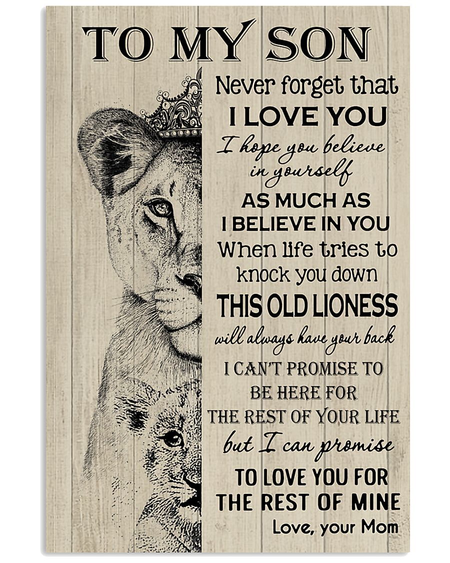 To My Son - Mom 11x17 Poster