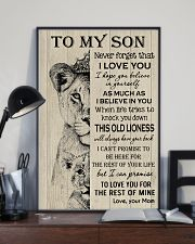 To My Son - Mom 11x17 Poster lifestyle-poster-2