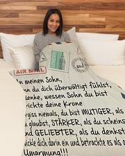 "Sohn - Mama Large Fleece Blanket - 60"" x 80"" aos-coral-fleece-blanket-60x80-lifestyle-front-05"