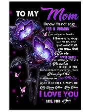 To My Mom - Son Vertical Poster tile