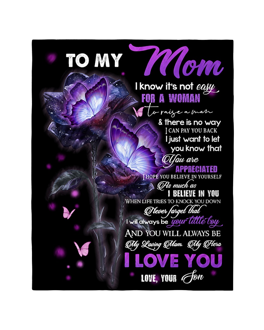"""To My Mom - Son Quilt 40""""x50"""" - Baby"""