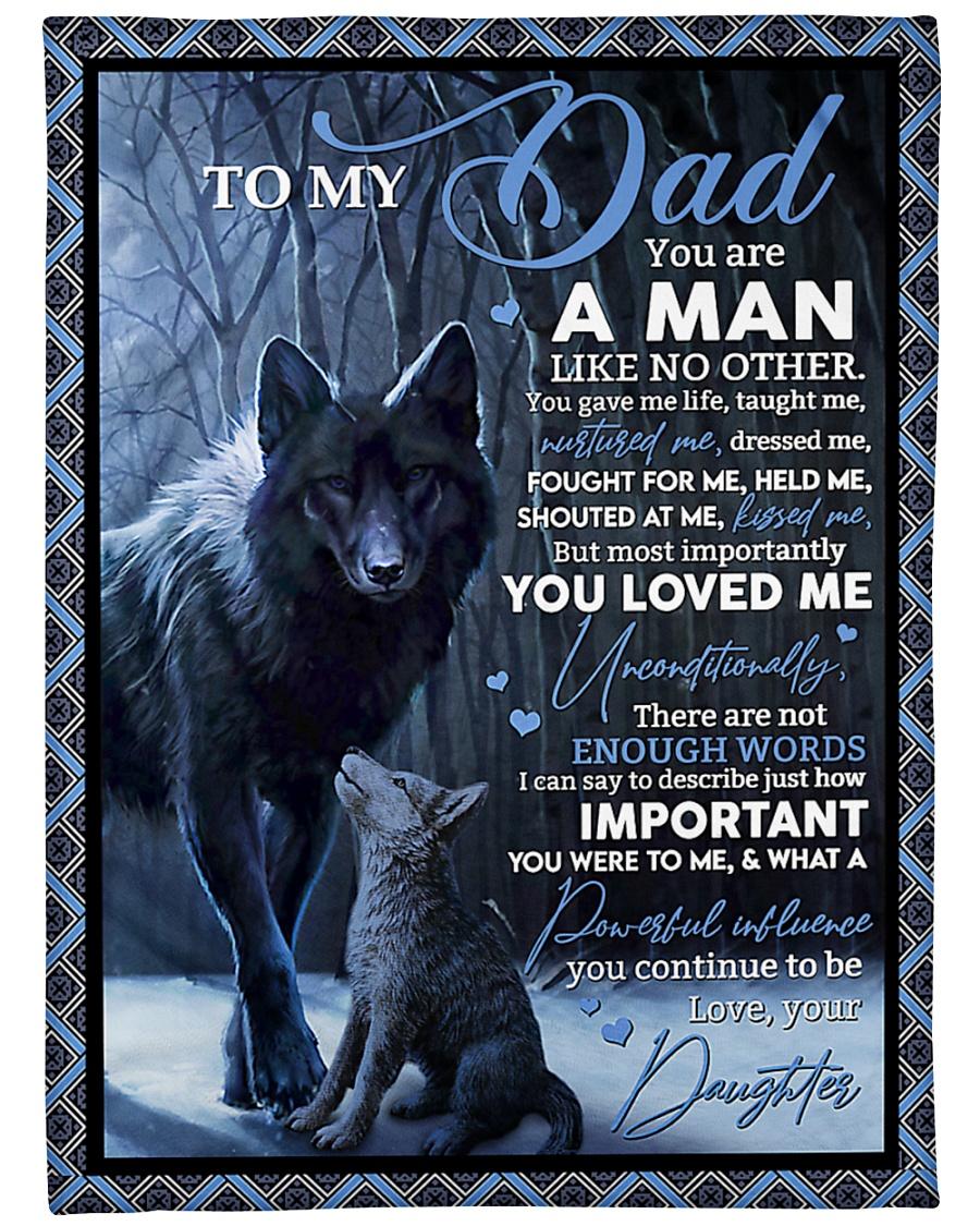 "To My Dad - Daughter Large Fleece Blanket - 60"" x 80"""