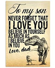 To my son-Dad 16x24 Poster front