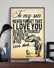 To my son-Dad 16x24 Poster lifestyle-poster-2