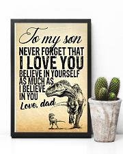 To my son-Dad 16x24 Poster lifestyle-poster-8