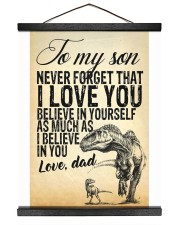 To my son-Dad 16x20 Black Hanging Canvas thumbnail