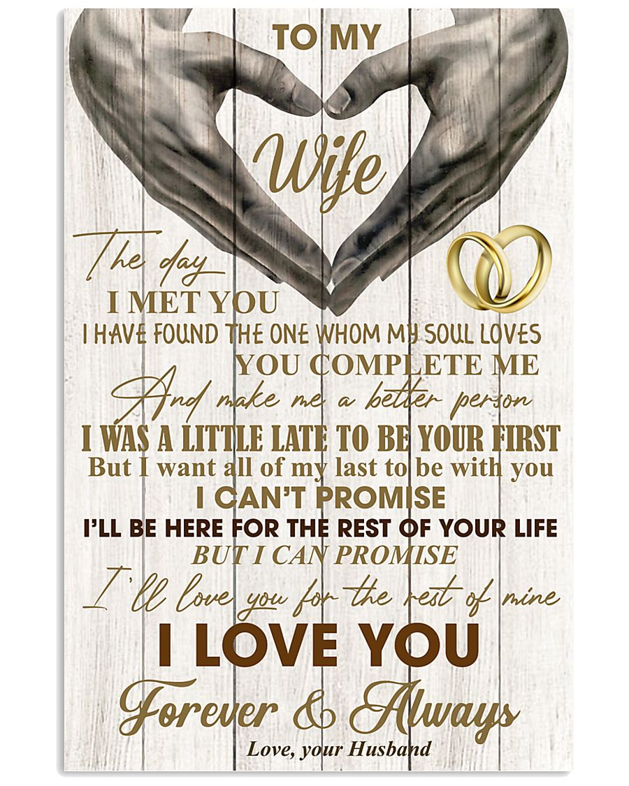 To My Wife - Husband 11x17 Poster