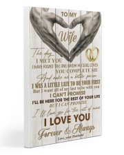 To My Wife - Husband 20x30 Gallery Wrapped Canvas Prints thumbnail
