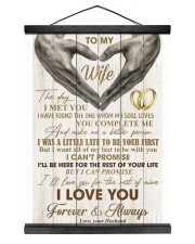 To My Wife - Husband 12x16 Black Hanging Canvas thumbnail