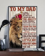To My Dad - Son  11x17 Poster lifestyle-poster-2