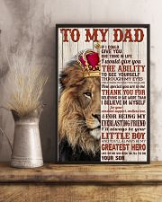 To My Dad - Son  11x17 Poster lifestyle-poster-3