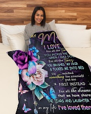 "To My Mom - Daughter Large Fleece Blanket - 60"" x 80"" aos-coral-fleece-blanket-60x80-lifestyle-front-05"