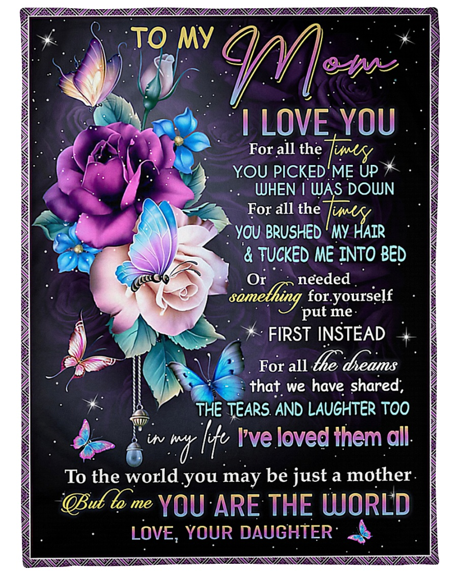 "To My Mom - Daughter Large Fleece Blanket - 60"" x 80"""