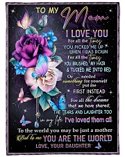 "To My Mom - Daughter Large Fleece Blanket - 60"" x 80"" front"
