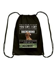 If You Hurt My Dachshund  Drawstring Bag thumbnail