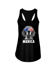 Beagle 4th of July Ladies Flowy Tank thumbnail