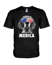 Beagle 4th of July V-Neck T-Shirt thumbnail