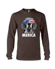 Beagle 4th of July Long Sleeve Tee front