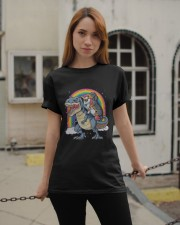 Dachshund Unicorn T rex Classic T-Shirt apparel-classic-tshirt-lifestyle-19