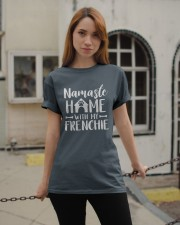 Namaste Home With My Frenchie Classic T-Shirt apparel-classic-tshirt-lifestyle-19