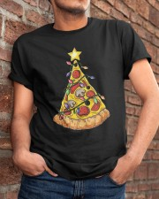 Pizza Christmas Tree Classic T-Shirt apparel-classic-tshirt-lifestyle-26