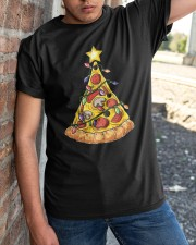 Pizza Christmas Tree Classic T-Shirt apparel-classic-tshirt-lifestyle-27