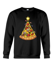 Pizza Christmas Tree Crewneck Sweatshirt thumbnail