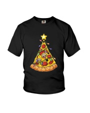 Pizza Christmas Tree Youth T-Shirt thumbnail