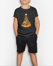 Pizza Christmas Tree Youth T-Shirt lifestyle-youth-tshirt-front-1